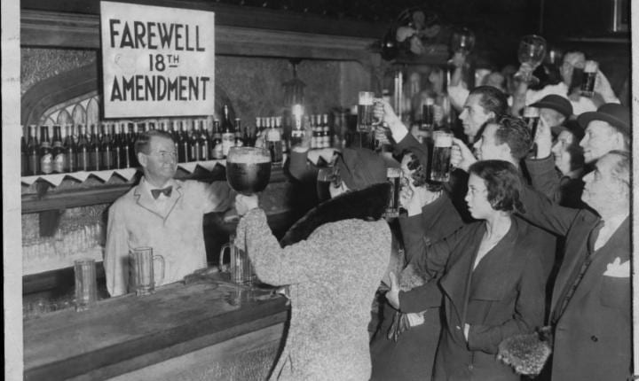 December 5, 1933: Prohibition ends