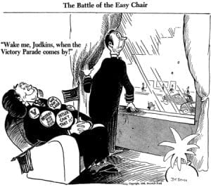 WWII, Dr. Seuss, complacent