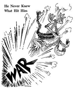 WWII, Dr. Seuss, isolationism, Pearl Harbor