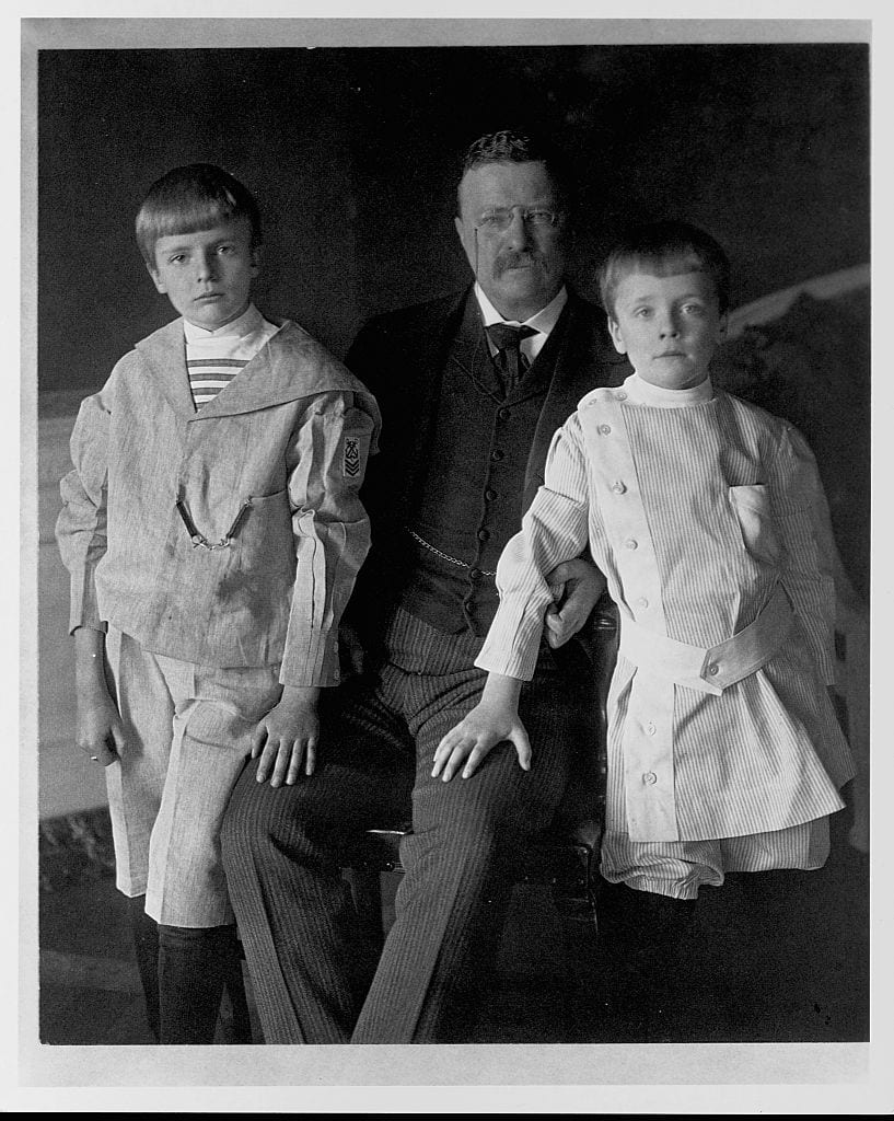 Theodore Roosevelt and Two Sons