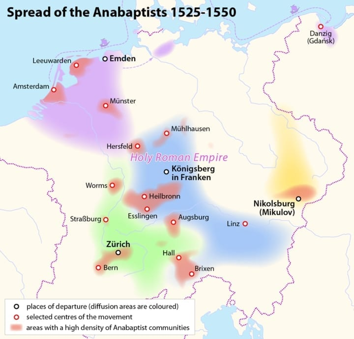 anabaptist, europe, amish roots
