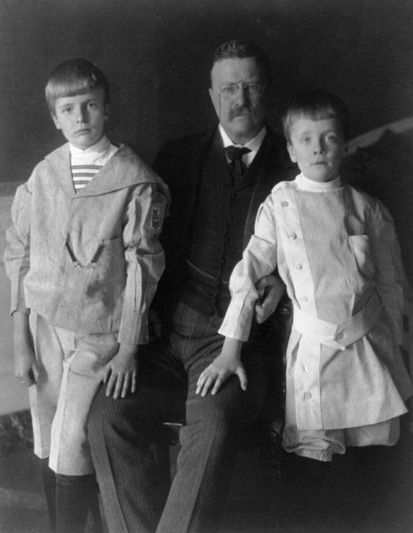 teddy roosevelt sons, president sons, archie and quentin roosevelt, Roosevelt and his sons