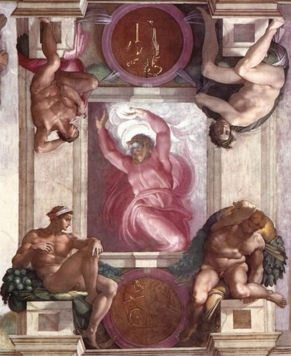 first day of creation sistine chapel michelangelo