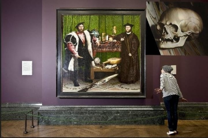 hans holbein the ambassadors skull national gallery