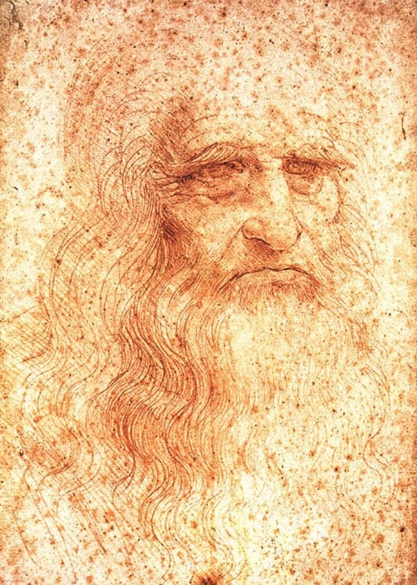 leonardo da vinci self portrait sketch