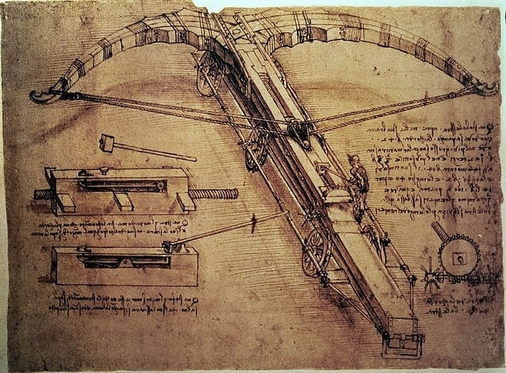 leonardo da vinci weapon sketch