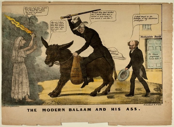 January 15, 1870: The Democrat donkey appears in print for the first time