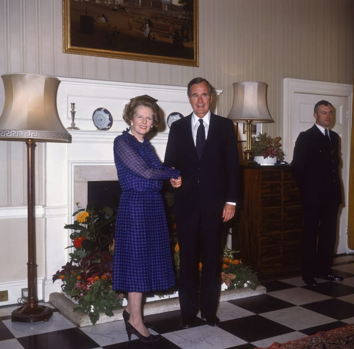 george h.w. bush margaret thatcher