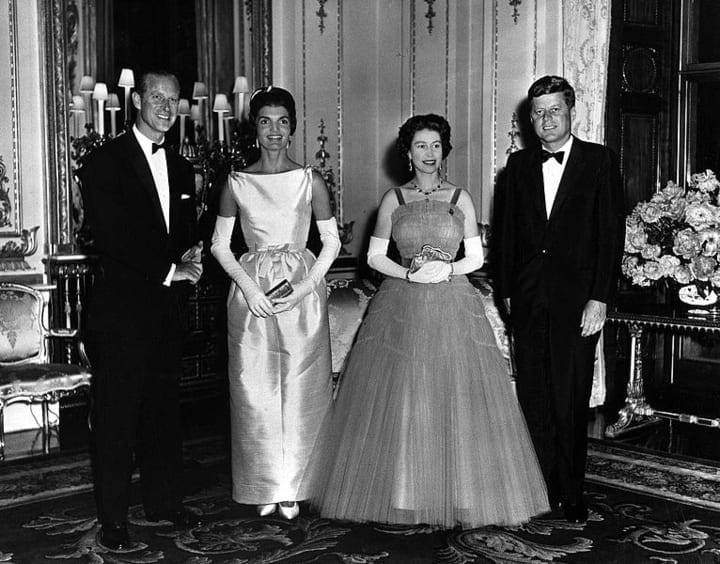 jackie john f. kennedy king philip queen elizabeth