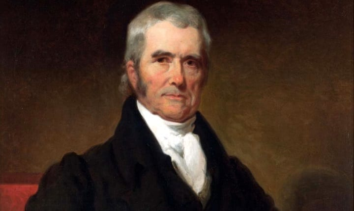January 20, 1801: John Marshall becomes the Chief Justice of the United States