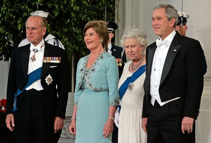 king philip queen elizabeth george bush