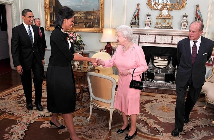 michelle barack obama meet king philip queen elizabeth ii