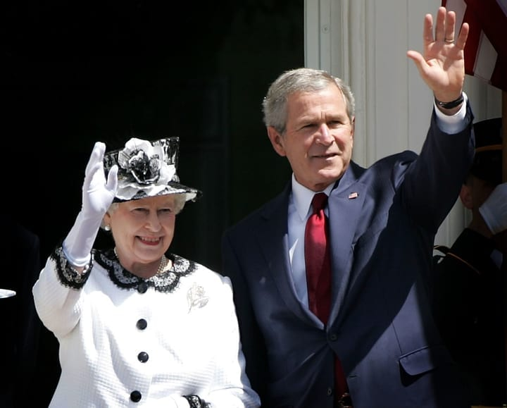 president george bush queen elizabeth ii