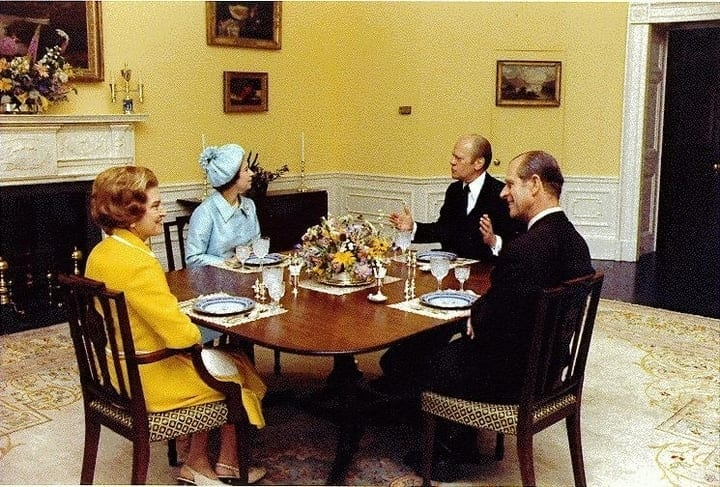 president gerald ford queen elizabeth white house dinner