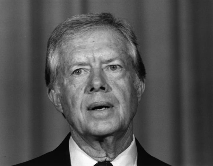 president jimmy carter upset