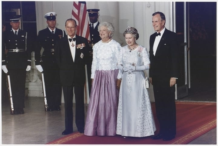 queen elizabeth george h.w. bush king philip