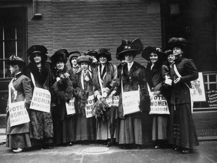 For a short period of time in the 1700s, New Jersey women had the right to vote