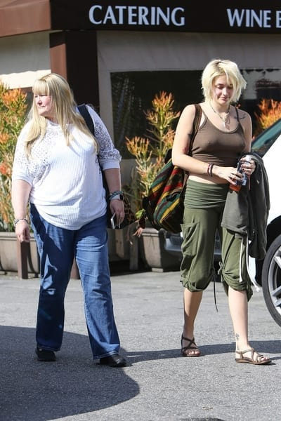 Michael Jackson ex-wife, Debbie Rowe with daughter Paris Jackson
