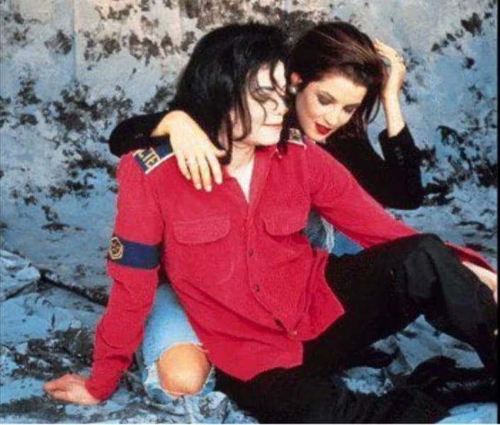 Michael Jackson with Lisa Marie Presley