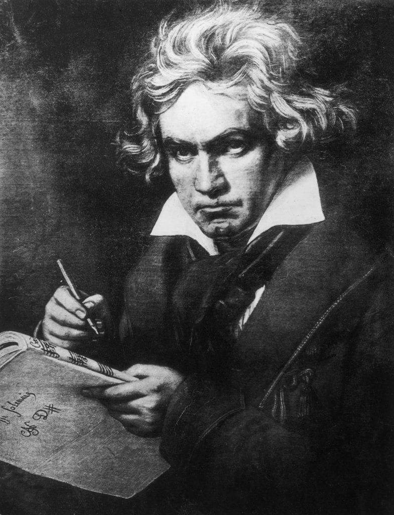 Ludwig von Beethoven, 9th symphony, composure, deaf musician