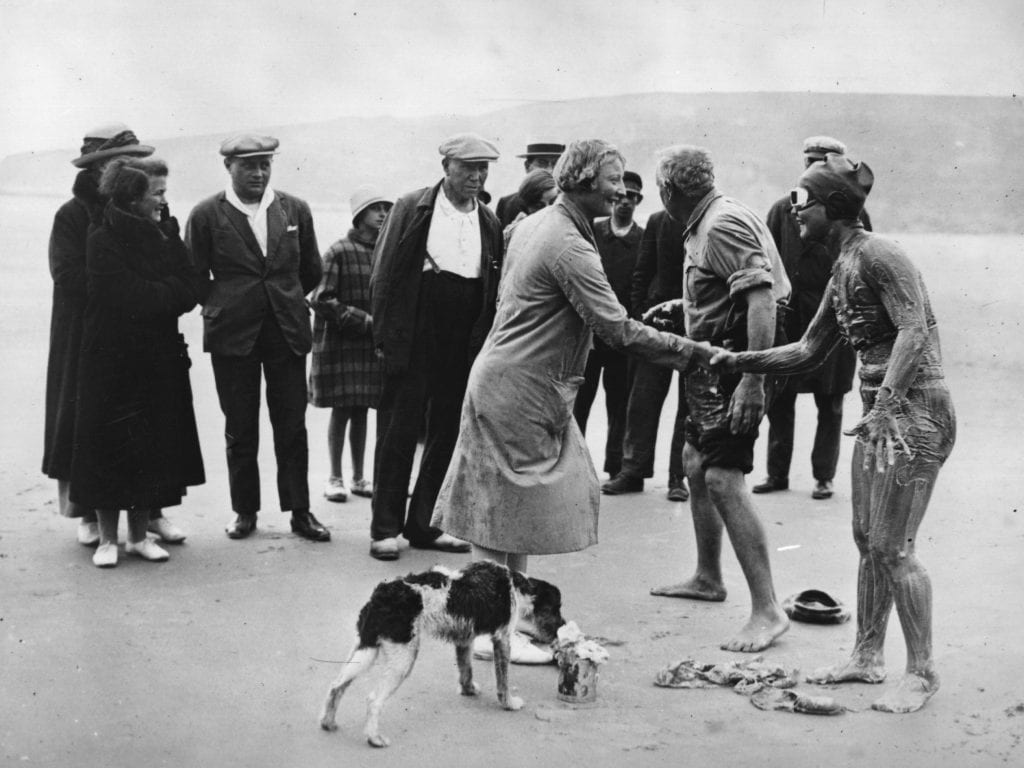 Gertrude Ederle, Trudy, Gertie, First woman to swim the English Channel, grease, england, the Roaring 20's