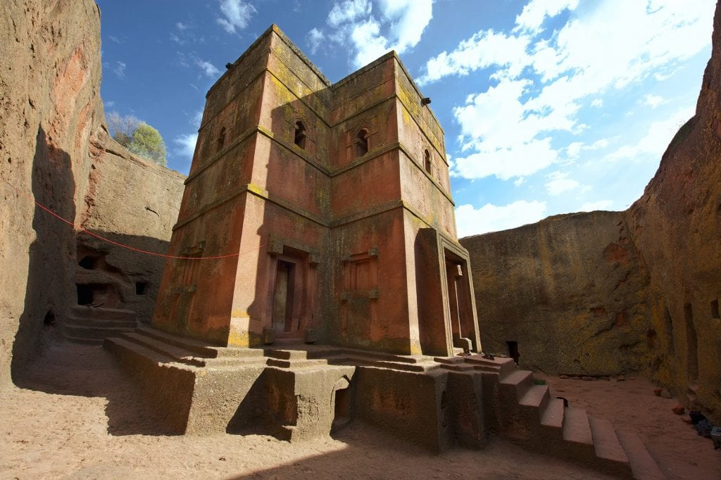 Lalibela, st george curch, ethiopa, ancient history, mysterious structures