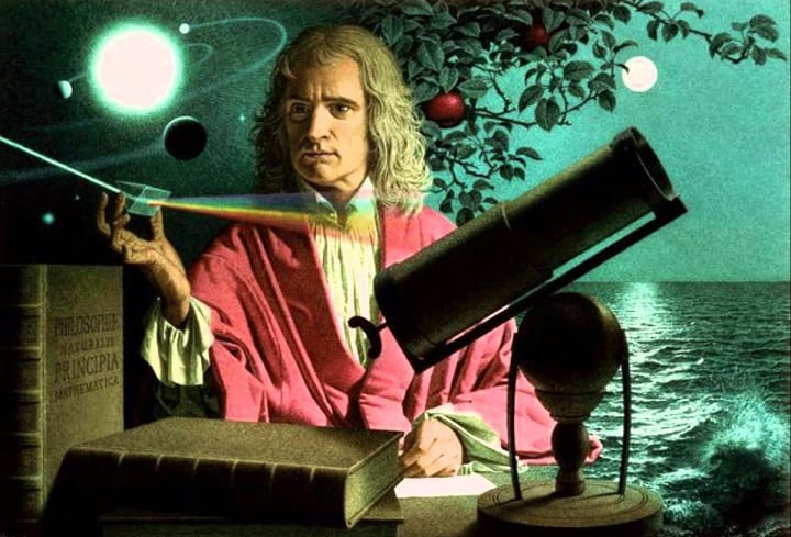 April 16,1705: Isaac Newton is knighted at Trinity College, Cambridge