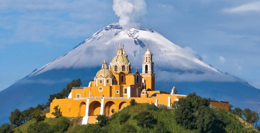 Mexico, the great pyramid of cholula, ancient maya