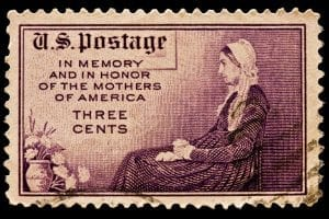 Anna-Jarvis-Mother's-Day-Whistler's-Mother-James-Whistler-postage stamp