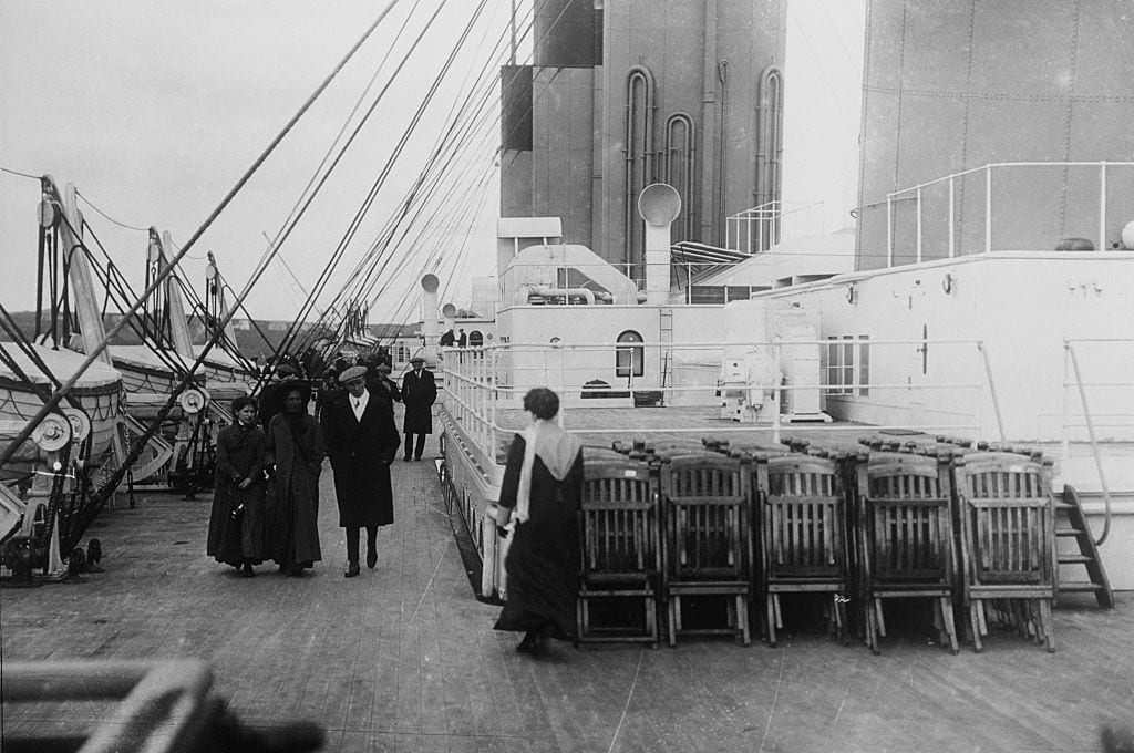 The Deck and Deck Chairs on the Titanic