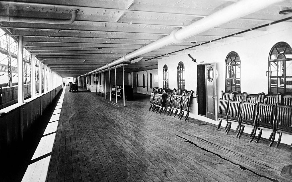 Promenade Deck of the Olympic