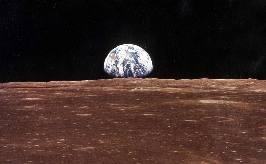 Picture of the Earth from the moon