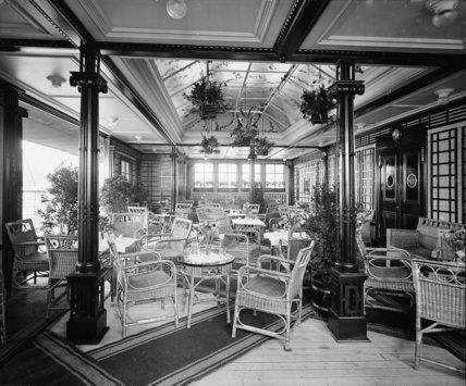 Veranda cafe on the RMS Titanic