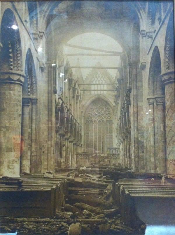 Selby Abbey after the fire of 1909