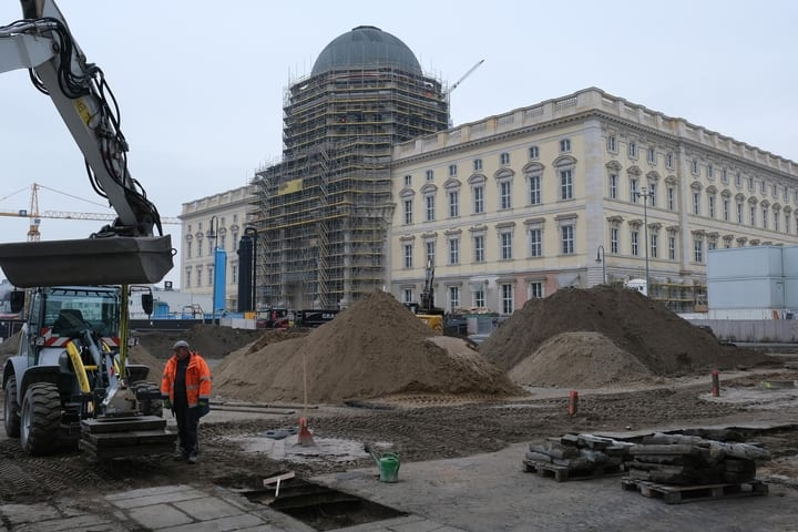 The Berlin Palace under construction