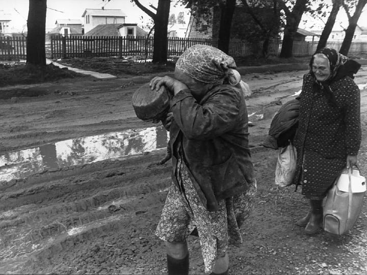 Evacuation of Chernobyl, families evacuated, lost their homes