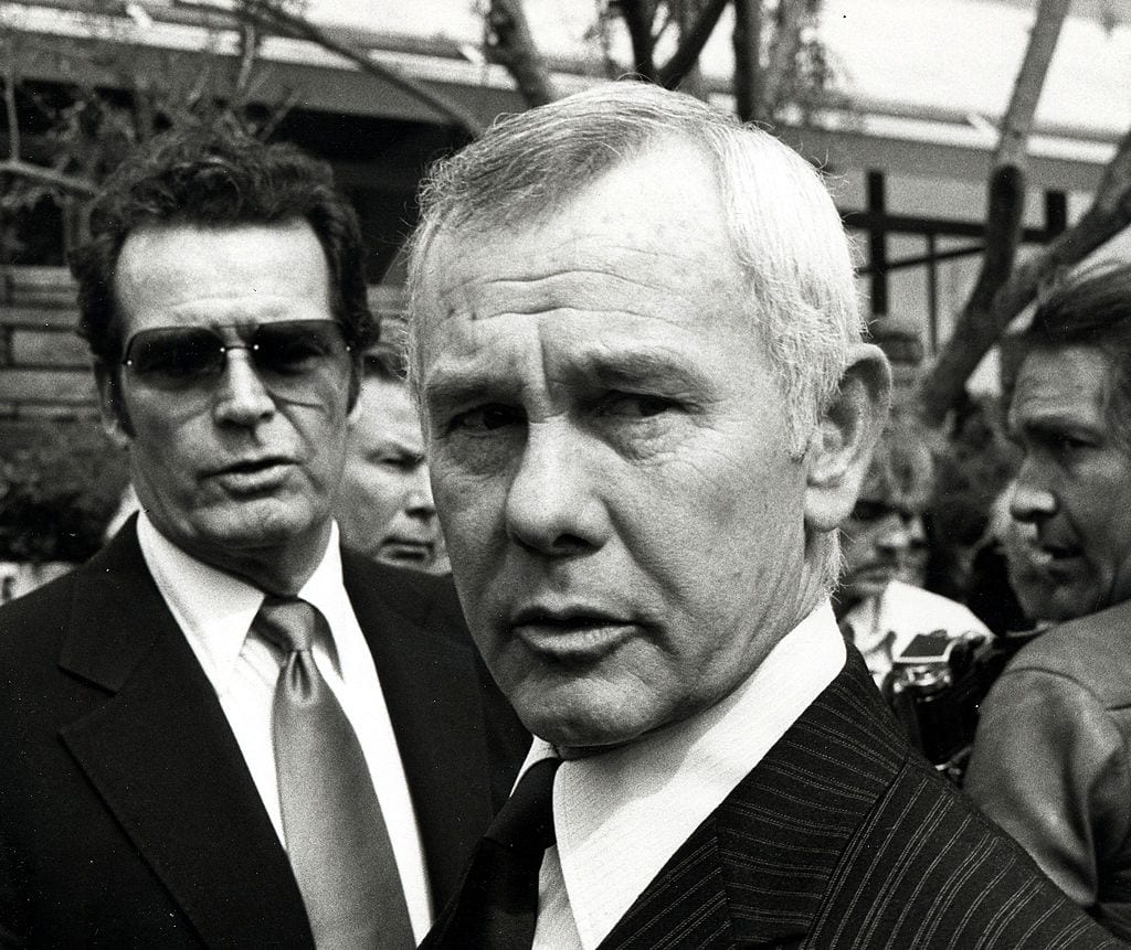 Johnny Carson at David Janssen's Funeral Service - February 17, 1980