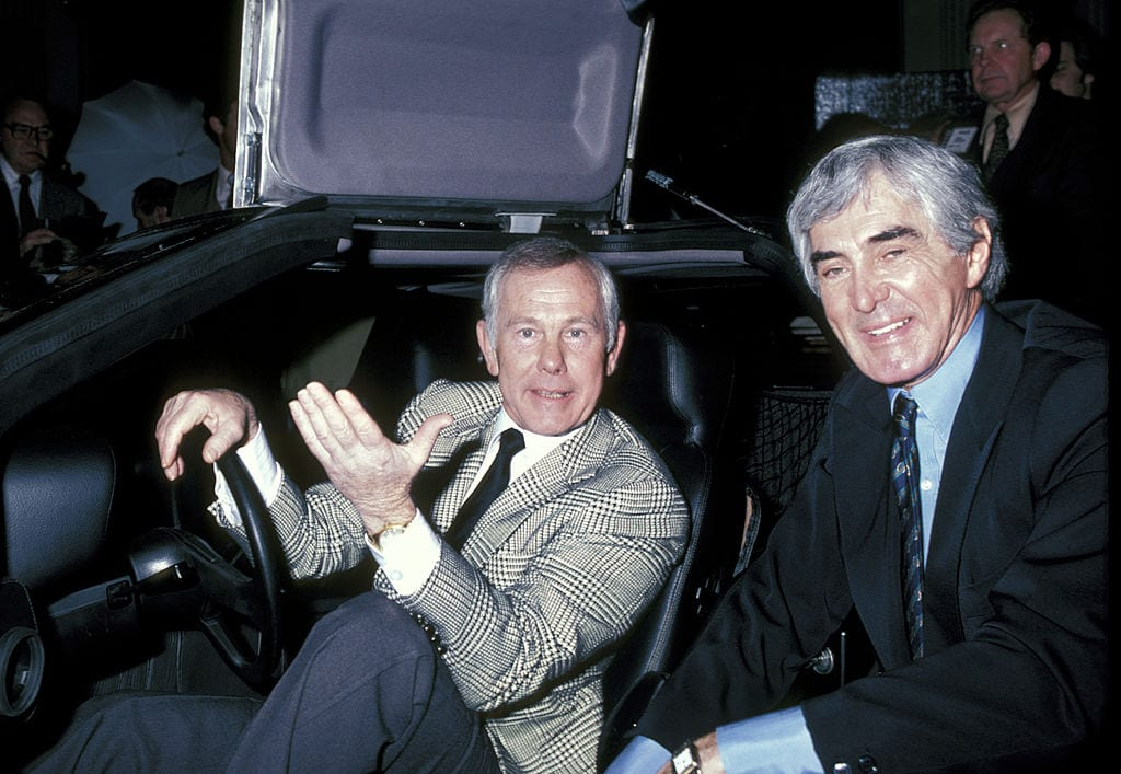 Johnny Carson at the unveiling of the DeLorean Motor Car - February 8, 1981