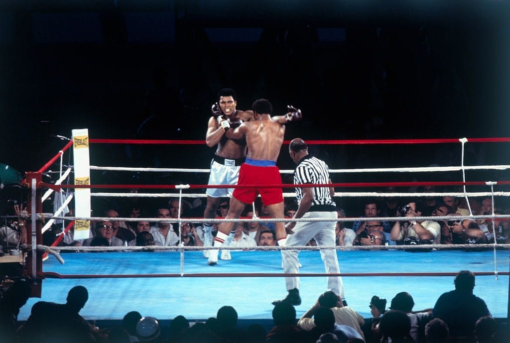 Ali vs. Foreman, one of the most watched moments in TV history.