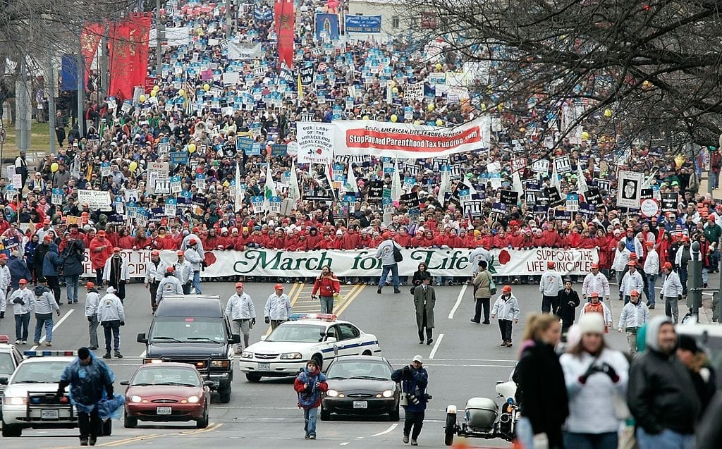 'March for Life' activists look to overturn Roe v. Wade, essentially eliminating abortion.