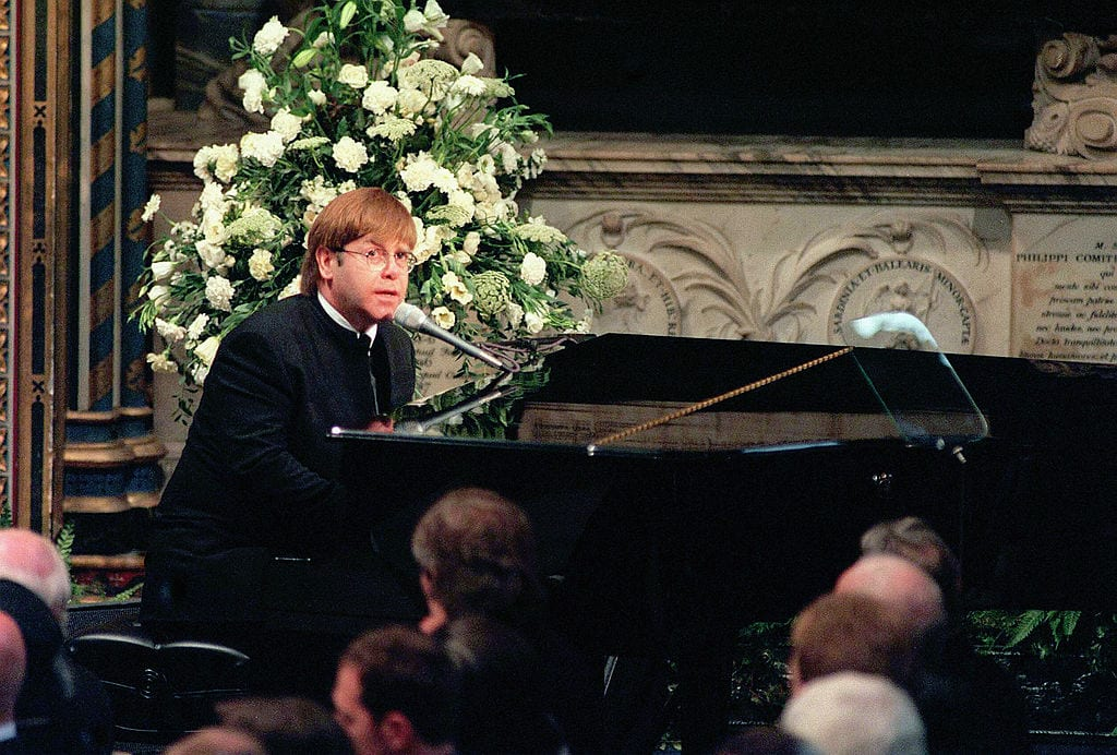 Elton John plays tribute to Princess Diana's funeral