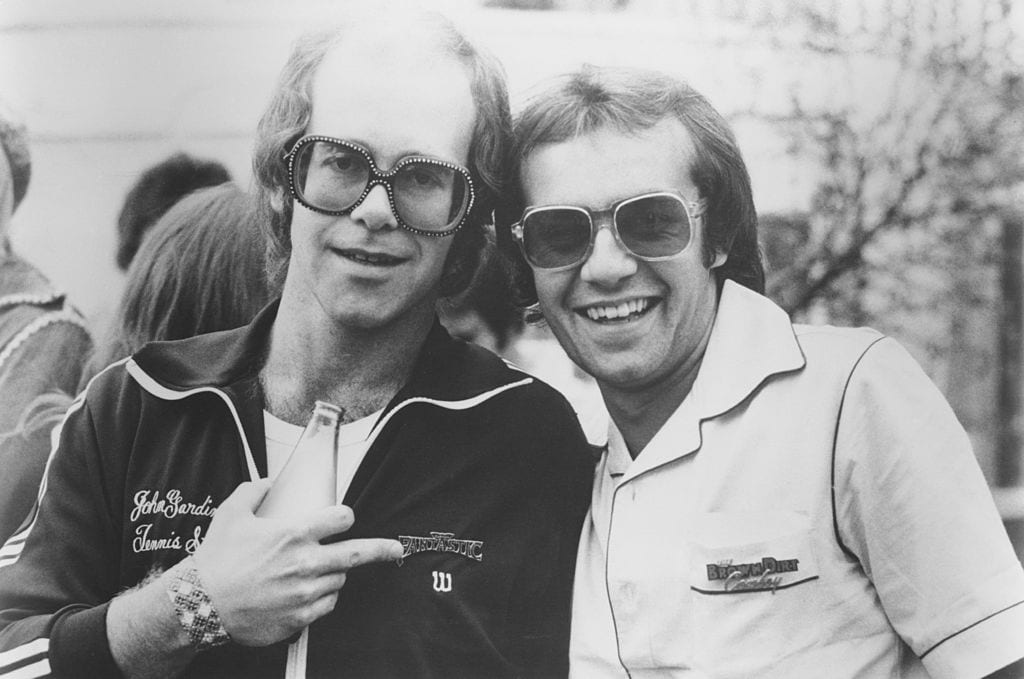 Hit Songwriting Team Bernie Taupin and Elton John