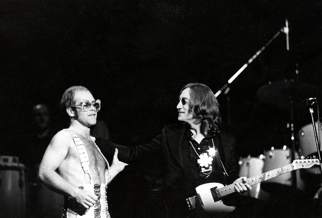 Photo of Elton JOHN and John LENNON