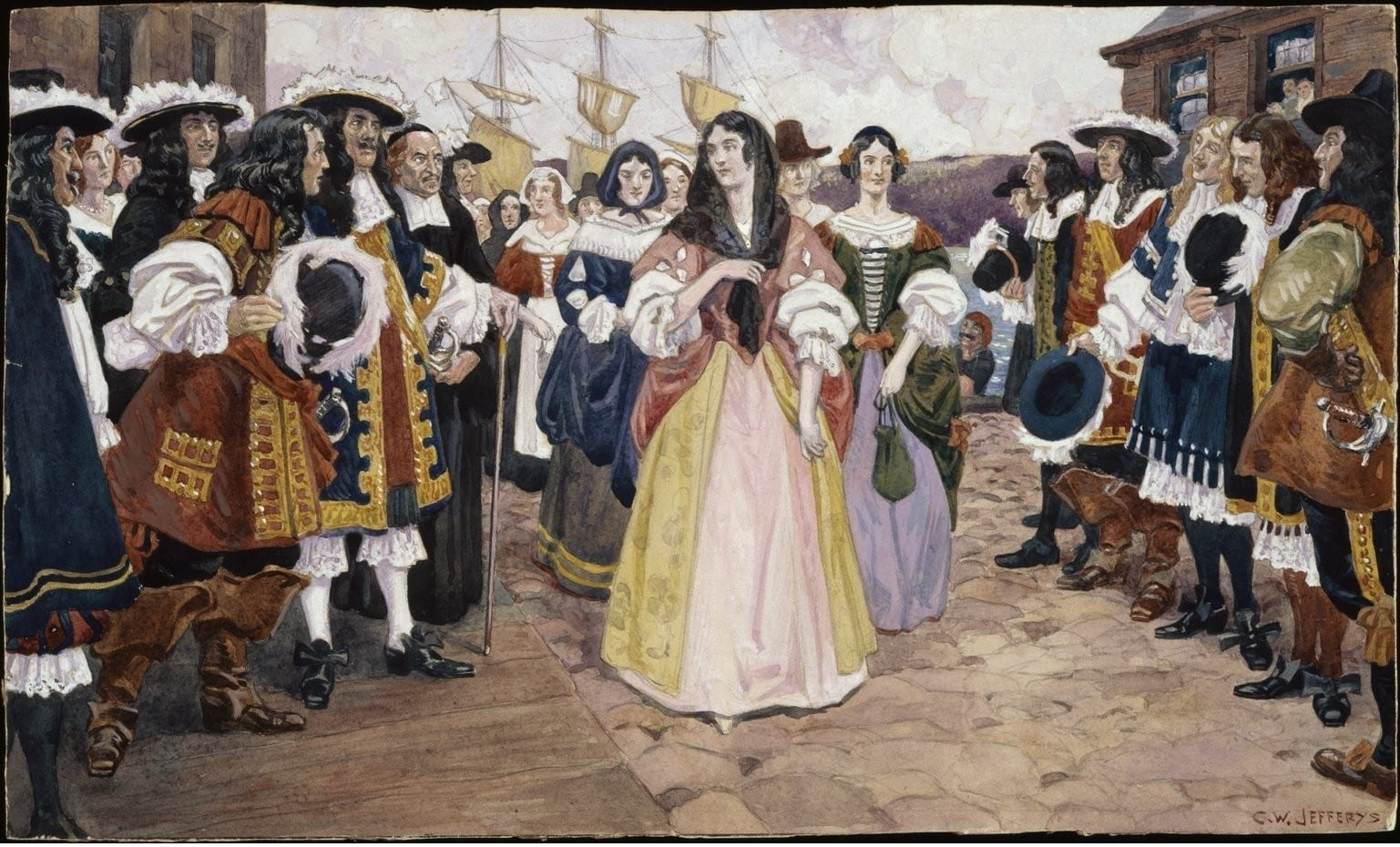 The Arrival of French women in 1666
