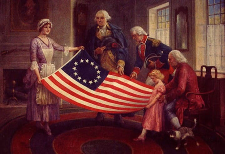 June 14, 1777: Congress votes to put stars and stripes on the American flag