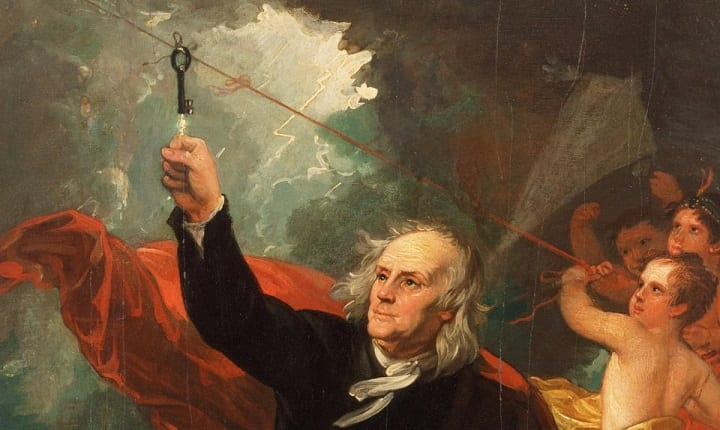June 10, 1752: Benjamin Franklin discovers electricity with kite experiment