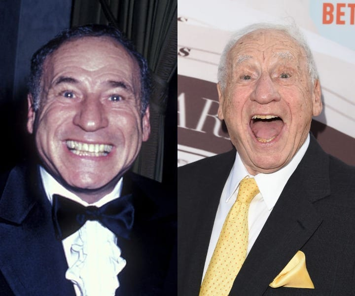 Mel Brooks in his youth and current