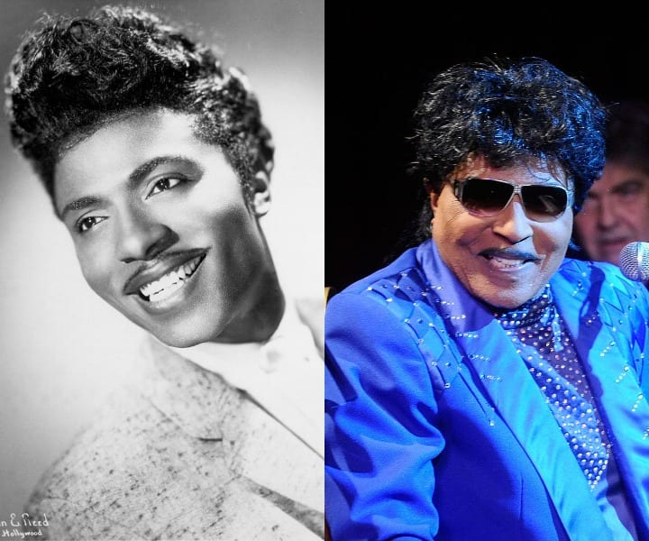 Little Richard in his youth and present