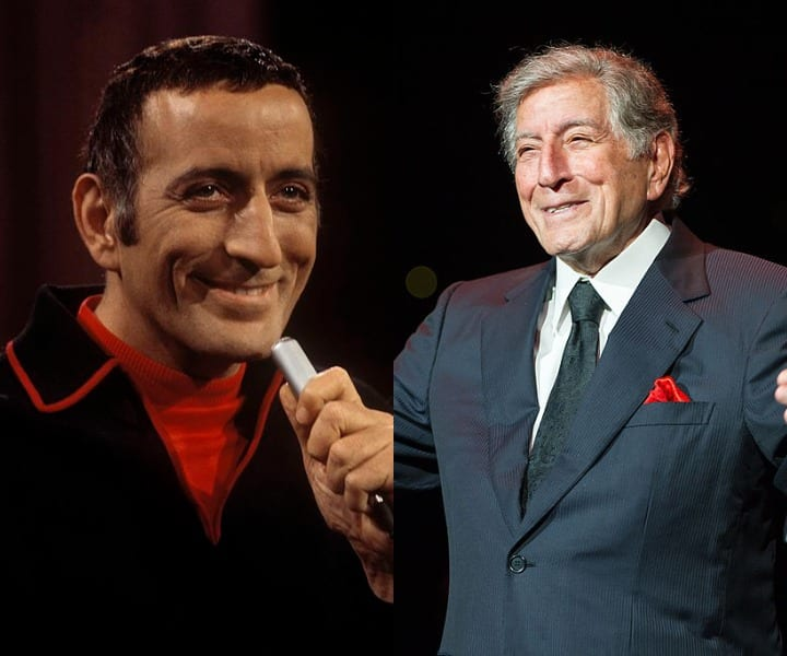 Tony Bennett young and present
