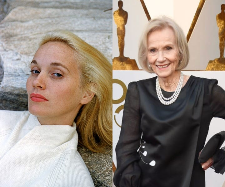 Eva Marie Saint in her youth and today